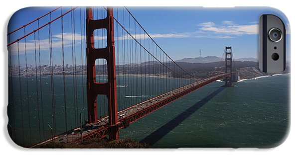 Bay Area iPhone Cases - Bridge of Dreams iPhone Case by Laurie Search