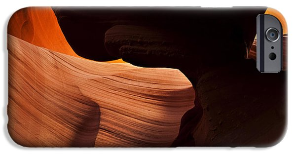 Red Rock iPhone Cases - Bridge of the Light iPhone Case by Mike  Dawson