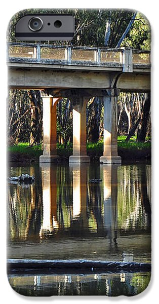 Bridge over Ovens River 2 iPhone Case by Kaye Menner