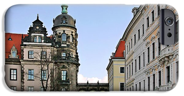 Countess iPhone Cases - Bridge over Taschenberg Street Dresden iPhone Case by Christine Till