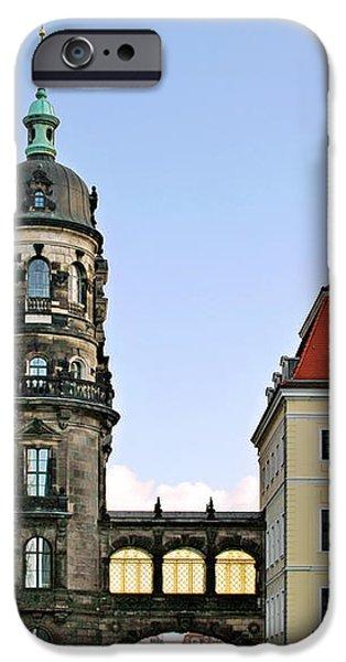Bridge over Taschenberg Street Dresden iPhone Case by Christine Till