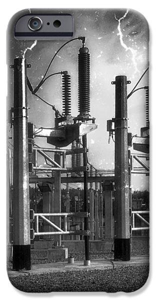 BRIDGE ST POWER SUBSTATION 2 - SPOKANE WASHINGTON iPhone Case by Daniel Hagerman