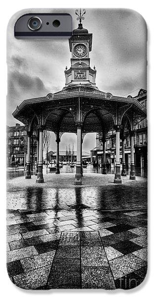 Bandstand iPhone Cases - Bridgeton Cross Bandstand Glasgow iPhone Case by John Farnan