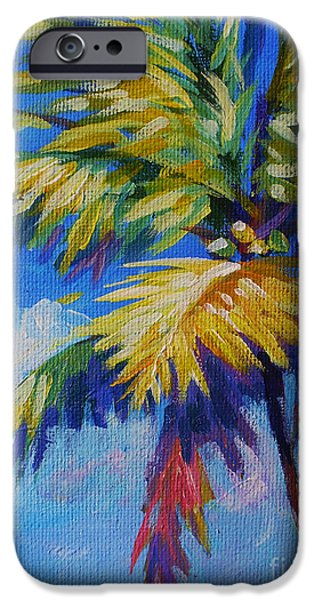 Cuba iPhone Cases - Bright Palm iPhone Case by John Clark