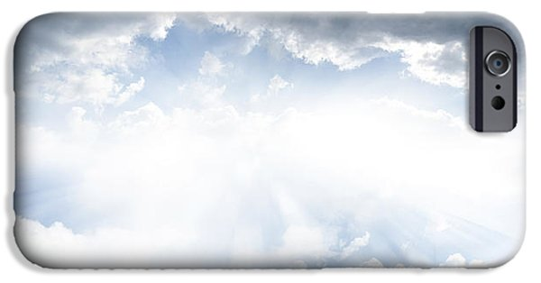 Cloudscape Photographs iPhone Cases - Bright sky iPhone Case by Les Cunliffe