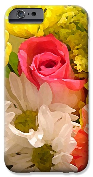 Bright Spring Flowers iPhone Case by Amy Vangsgard
