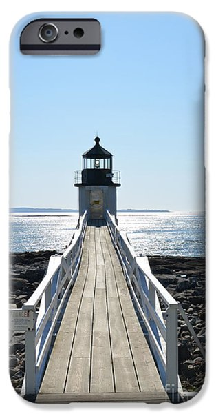 New England Lighthouse iPhone Cases - Brilliant Light iPhone Case by Corinne Rhode