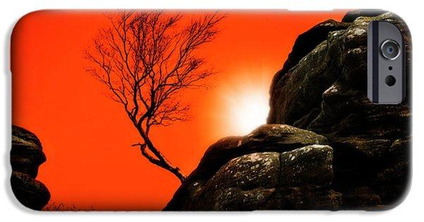 Strange iPhone Cases - Brimham Sunset iPhone Case by Meirion Matthias