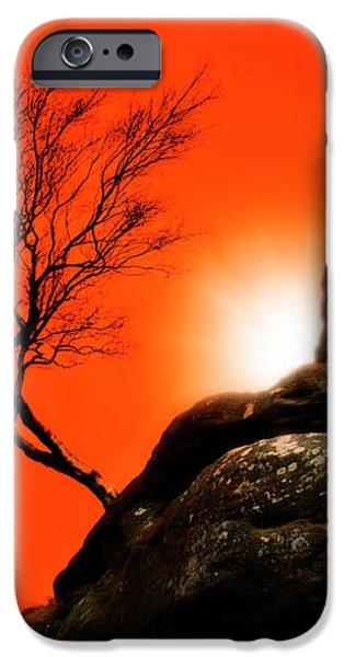 brimham sunset iPhone Case by Meirion Matthias