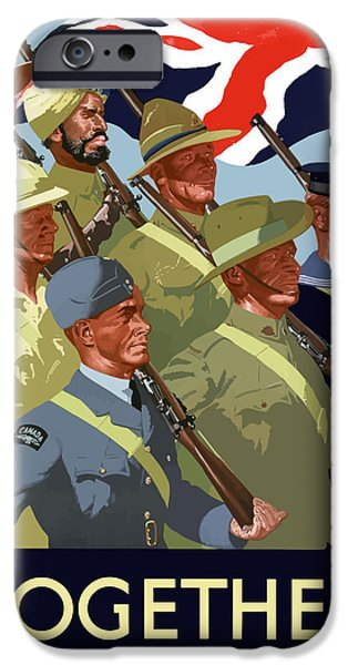 British Empire Soldiers Together iPhone Case by War Is Hell Store