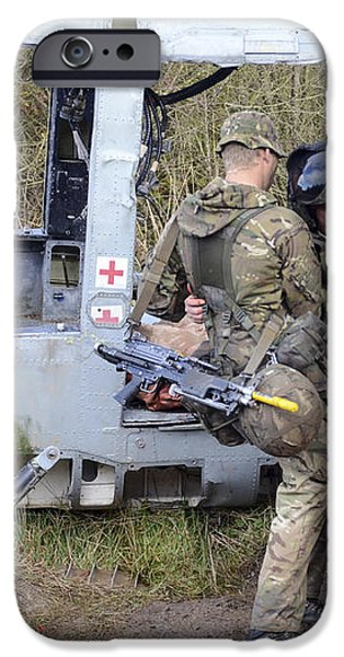 British Soldiers Help A Simulated iPhone Case by Andrew Chittock