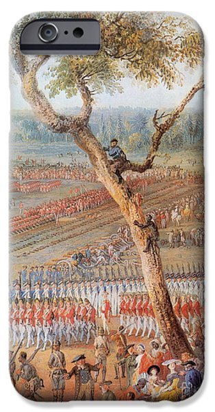 Yorktown Virginia iPhone Cases - British Troops Surrender At Yorktown iPhone Case by Photo Researchers