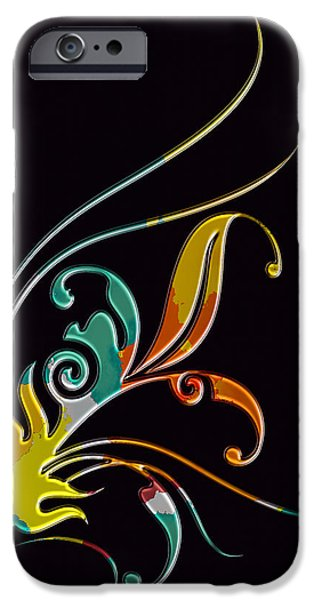 Abstract Digital Pyrography iPhone Cases - Broach  iPhone Case by Mauro Celotti