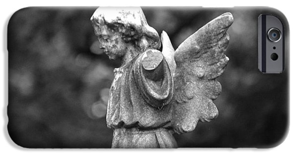 Best Sellers -  - Seraphim Angel iPhone Cases - Broken Angel BW iPhone Case by J M Lister