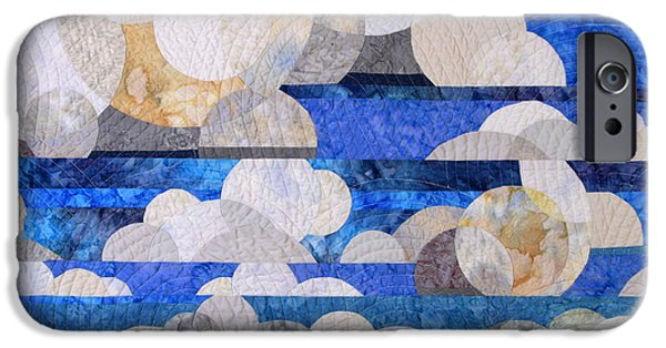 Clouds Tapestries - Textiles iPhone Cases - Broken Cumulous iPhone Case by Linda Beach