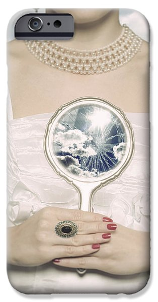 Glass Reflecting iPhone Cases - Broken Handmirror iPhone Case by Joana Kruse