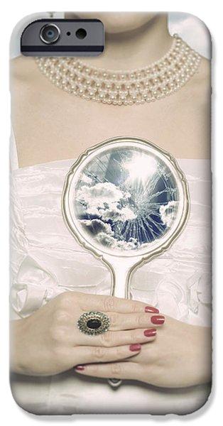 broken handmirror iPhone Case by Joana Kruse