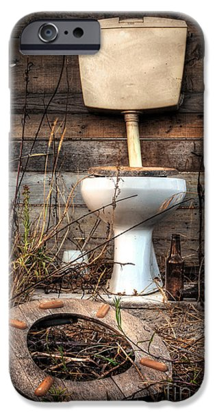 Recently Sold -  - Antiques iPhone Cases - Broken Toilet iPhone Case by Carlos Caetano
