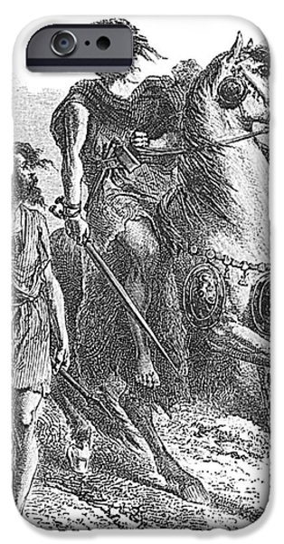 Bronze Age Warrior iPhone Case by Photo Researchers
