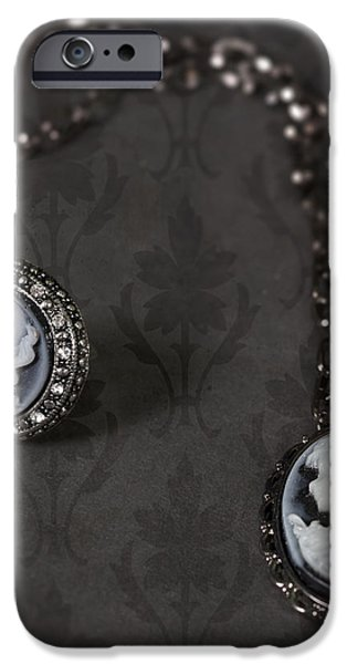 brooch and necklace iPhone Case by Joana Kruse