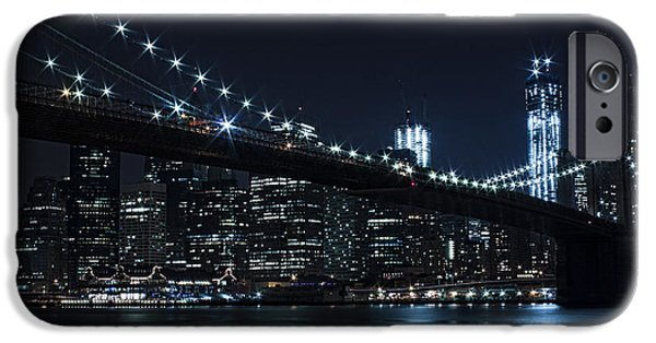 Slick iPhone Cases - Brooklyn Nights iPhone Case by Andrew Paranavitana