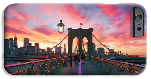 New York Photographs iPhone Cases - Brooklyn Sunset iPhone Case by Rick Berk