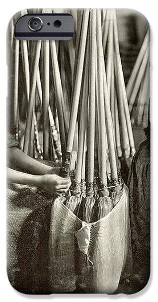BROOM MANUFACTURE, 1908 iPhone Case by Granger