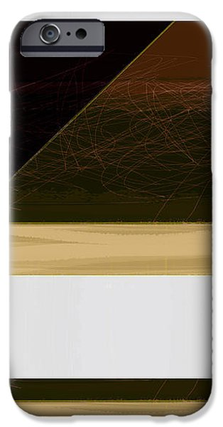 Brown field iPhone Case by Naxart Studio