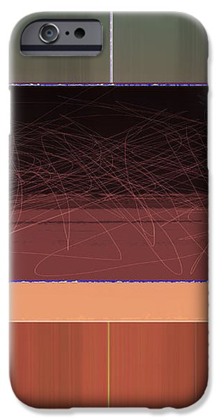 Brown Wall iPhone Case by Naxart Studio