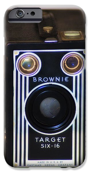 Brownie iPhone Cases - Brownie Target Six-16 iPhone Case by Bill Cannon