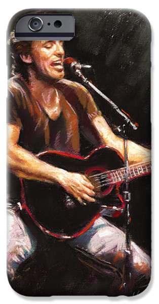 Springsteen iPhone Cases - Bruce Springsteen  iPhone Case by Ylli Haruni