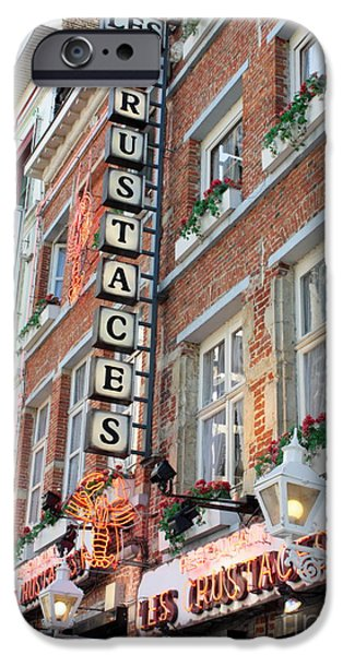 Brussels - Place Sainte Catherine Restaurants iPhone Case by Carol Groenen