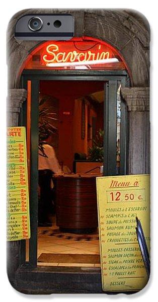 Brussels - Restaurant Savarin iPhone Case by Carol Groenen