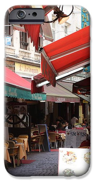 Brussels Restaurant Street - Rue de Bouchers iPhone Case by Carol Groenen