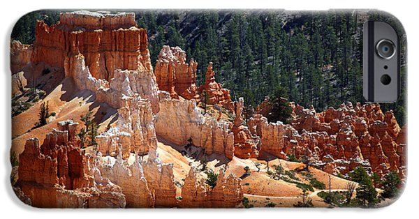 Mountains iPhone Cases - Bryce Canyon  iPhone Case by Jane Rix