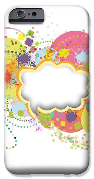 bubble speech iPhone Case by Setsiri Silapasuwanchai