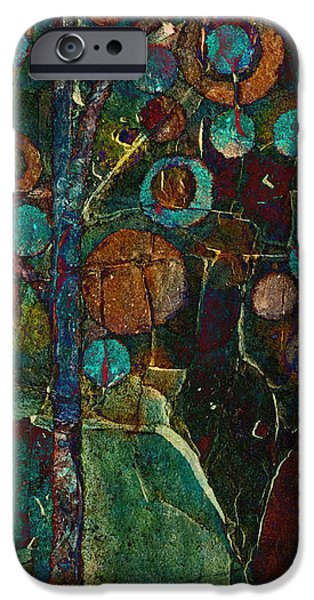 Realism Mixed Media iPhone Cases - Bubble Tree - spc01ct04 - Right iPhone Case by Variance Collections