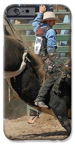 Bucking Bulls 101 iPhone Case by Cheryl Poland