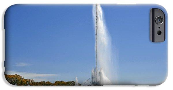 Interior Scene iPhone Cases - Buckingham Fountain - Chicagos Iconic landmark iPhone Case by Christine Till