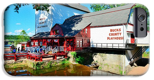 Bucks County iPhone Cases - Bucks County Playhouse iPhone Case by William Jobes