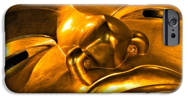 Statue Portrait iPhone Cases - Buddha iPhone Case by Luciano Mortula
