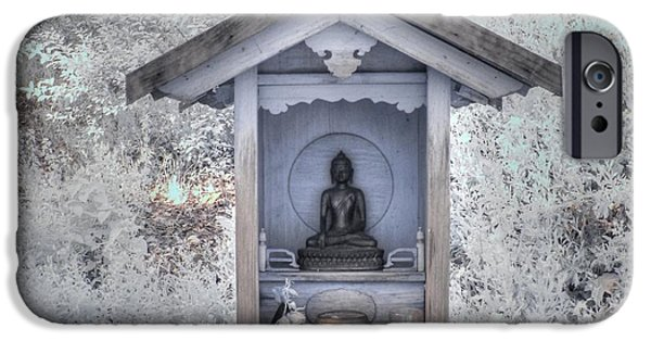 Bodhisattva iPhone Cases - Buddha Shrine iPhone Case by Jane Linders