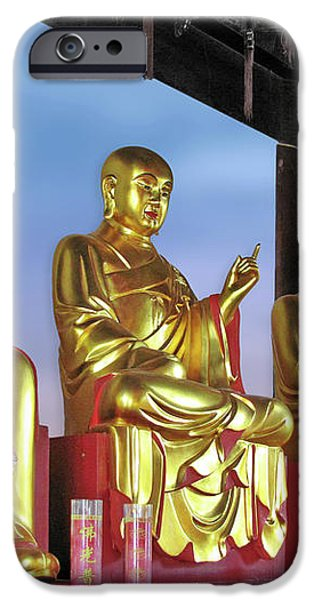 Buddhas Delight - Representations of Buddhism iPhone Case by Christine Till