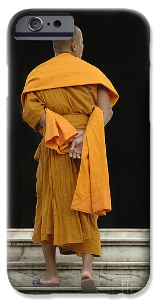 Buddhist Monk 1 iPhone Case by Bob Christopher