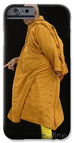 Buddhist Monk 3 iPhone Case by Bob Christopher