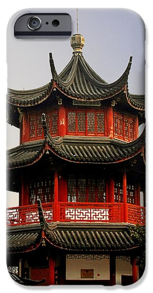 Buddhist Pagoda - Shanghai China iPhone Case by Christine Till