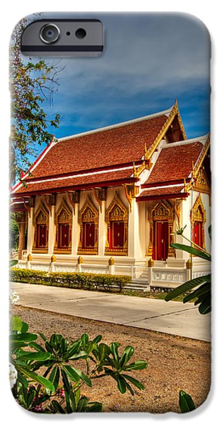 Buddhist iPhone Cases - Buddhist Temple iPhone Case by Adrian Evans