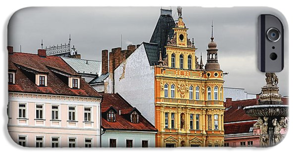 Budejovice iPhone Cases - Budweis - Pearl of Bohemia - Czech Republic iPhone Case by Christine Till