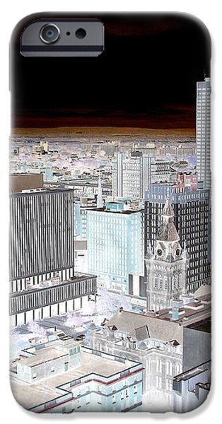 Buffalo New York Aerial View Inverted Effect iPhone Case by Rose Santuci-Sofranko