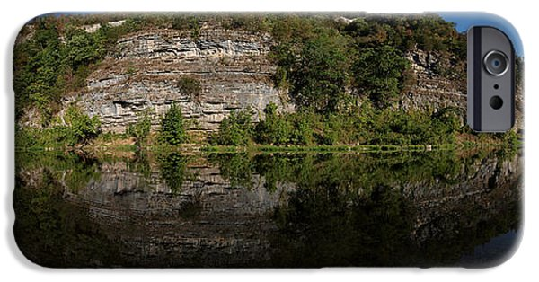 Arkansas iPhone Cases - Buffalo River Bend Panorama iPhone Case by Joshua House